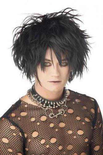 Perruque gothique noir adulte
