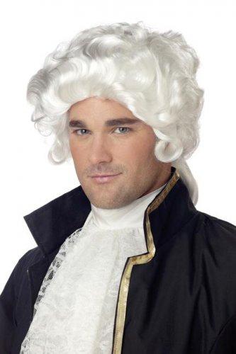 Perruque baroque blanche homme style rococo