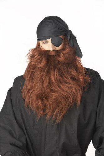 Barbe pirate marron