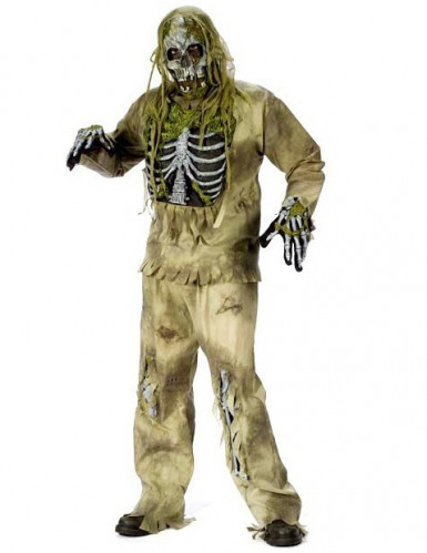 Déguisement corps fossilisé Halloween adulte
