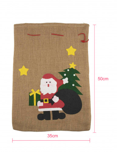Hotte Père Noël 50 x 35cm-1