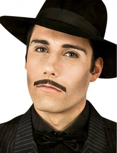 Moustache de gangster noire luxe