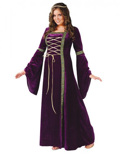 Déguisement Dame de la Renaissance XXL violet femme