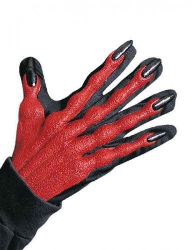 Paire de gants de diable effet 3D