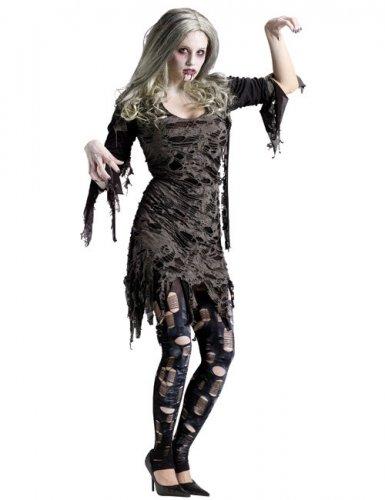 Déguisement zombie Halloween gris femme