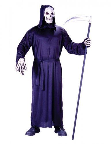 Déguisement de faucheur Halloween noir