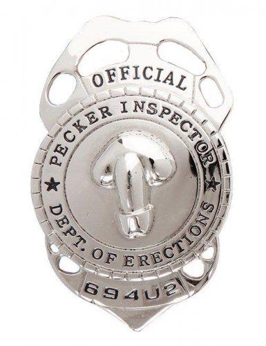 Badge policier coquin argenté