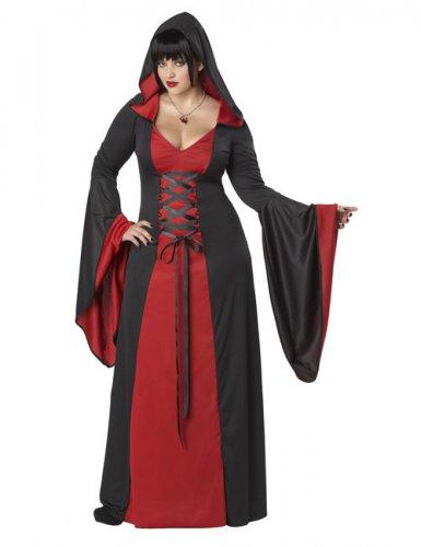 Déguisement robe maléfique à capuche grande taille femme