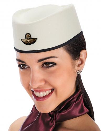 Déguisement,Carnaval Hôtesse de l/' Air Chapeau-Calot -coiffe-Bibi