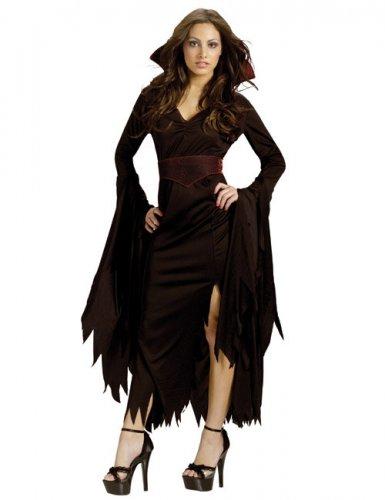 Déguisement gothique de vampire d'Halloween pour femme