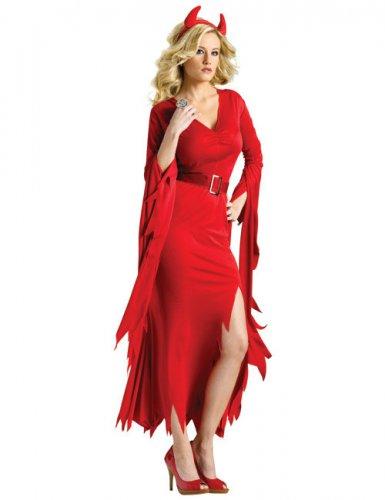 Déguisement diablesse rouge élégante femme