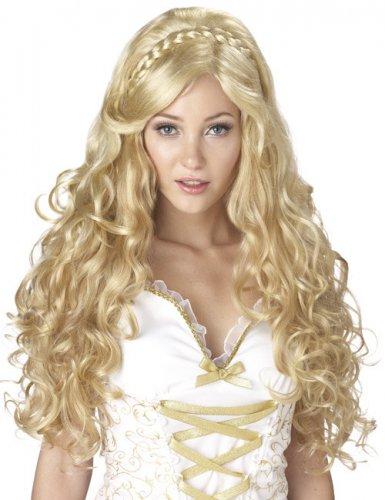 Perruque bouclée déesse femme blonde