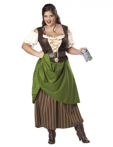 Déguisement tavernière médiévale à corsage femme