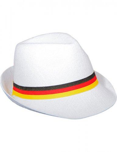 Chapeau de fan de football allemand blanc et multicolore Adulte