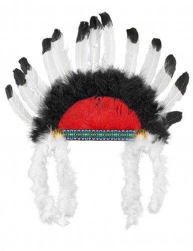 Coiffe chef indien avec plumes enfant-2