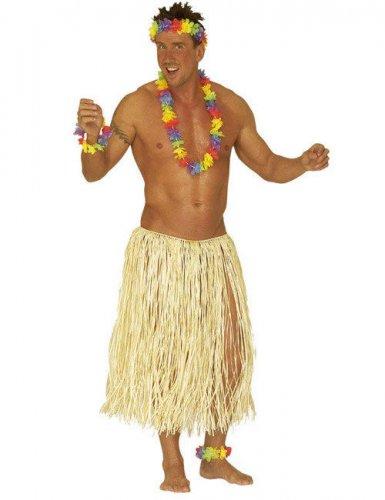 Jupe hawaiënne naturelle adulte