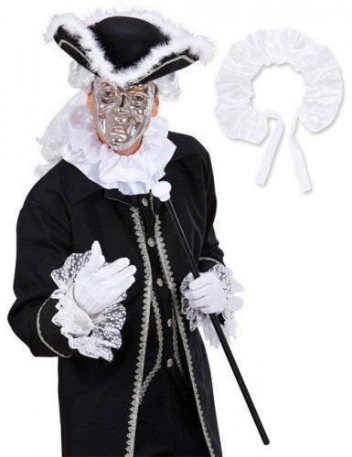 Collerette en satin baroque blanc