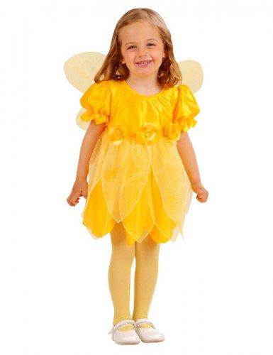 Déguisement fée des fleurs jaune fille
