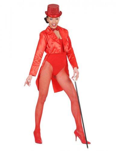 Queue de pie satinée rouge femme
