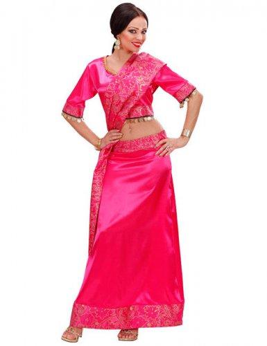 Déguisement Bollywood rose femme