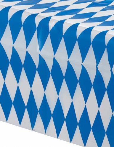 Nappe bavaroise à carreaux bleus et blancs 260x80cm-1