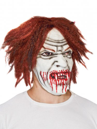 Masque latex vampire dracula blanc