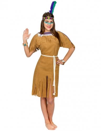 Déguisement indienne femme brun