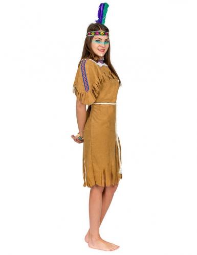 Déguisement indienne femme brun-1