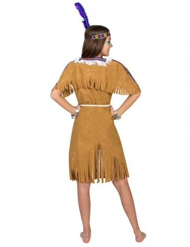 Déguisement indienne femme brun-2