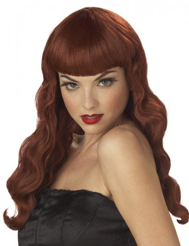 Perruque Pin up rouge femme