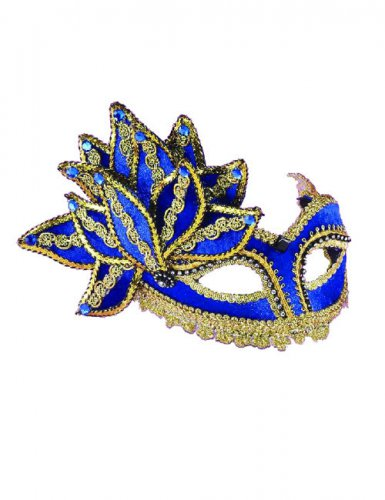 Masque Vénitien bleu et or adulte