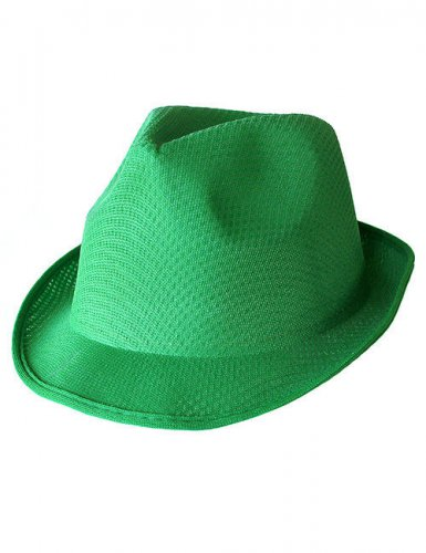 Chapeau borsalino vert adulte