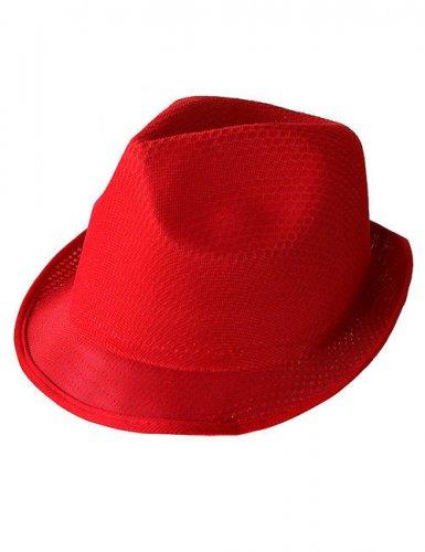 Chapeau borsalino rouge adulte