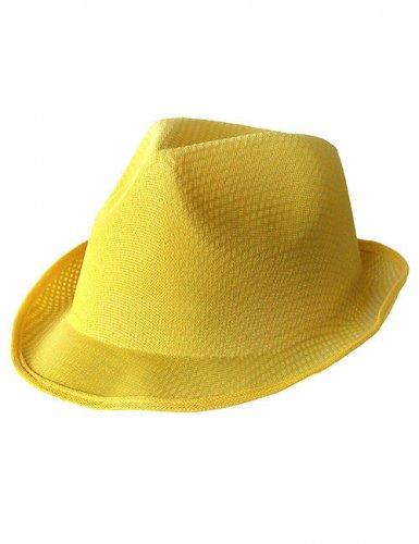 Chapeau borsalino jaune adulte