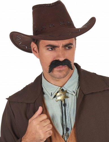 Collier shériff doré adulte-1