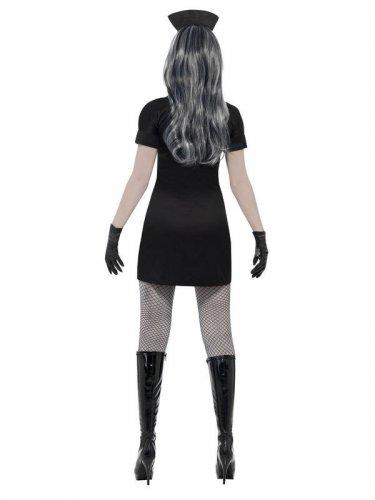 Déguisement infirmière noire femme Halloween-1