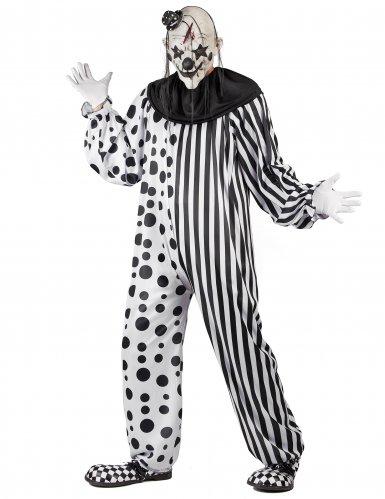 Déguisement clown monstrueux noir et blanc adulte-1