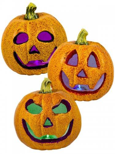 Achat Citrouille Halloween.Citrouille A Paillettes Lumineuse Deguise Toi Achat De Decoration Animation