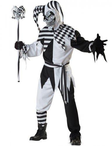 Déguisement Arlequin maléfique noir et blanc
