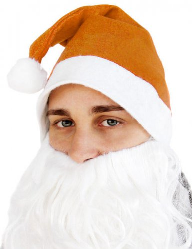 Chapeau pointu Père Noël orange adulte