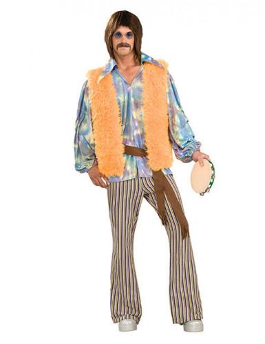 Déguisement hippie années 60 multicolore homme