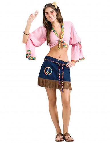 Déguisement femme sexy hippie années 60