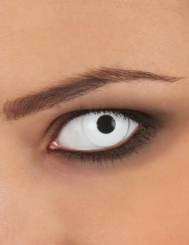 Lentilles fantaisie oeil blanc 1 an adulte