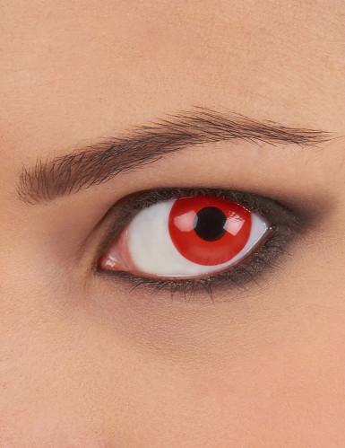 Lentilles fantaisie oeil rouge 1 an adulte