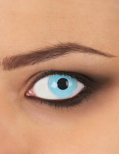 Lentilles fantaisie oeil bleu glacé 1 an adulte