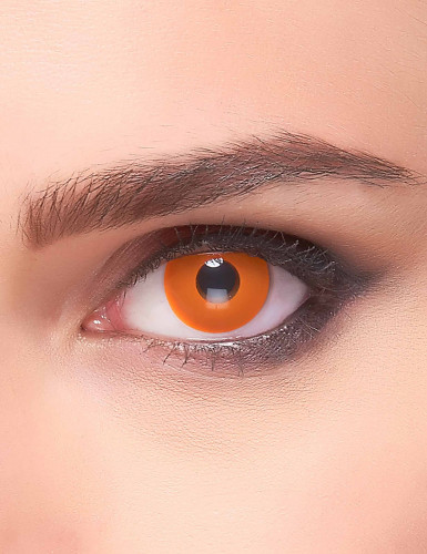Lentilles fantaisie oeil orange adulte