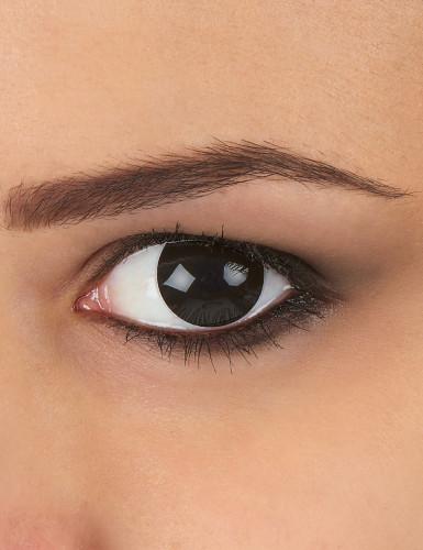Lentilles fantaisie oeil noir 1 an adulte