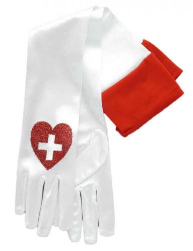 Gants longs d'infirmière adulte
