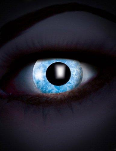 Lentilles fantaisie UV bleu diamant adulte