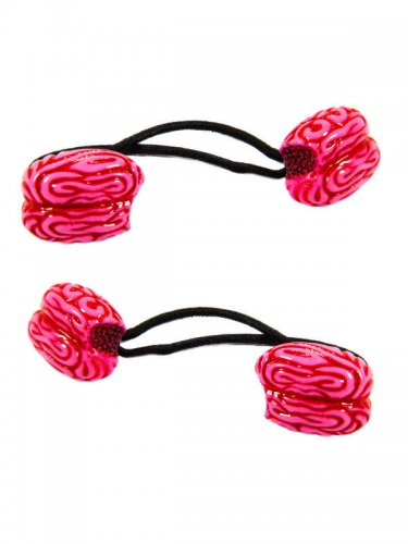 2 élastiques cerveaux roses